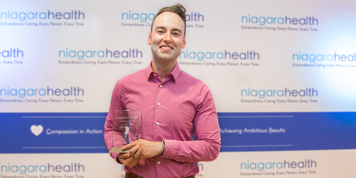 Don Versluis was presented with Niagara Health's top award for extraordinary performance