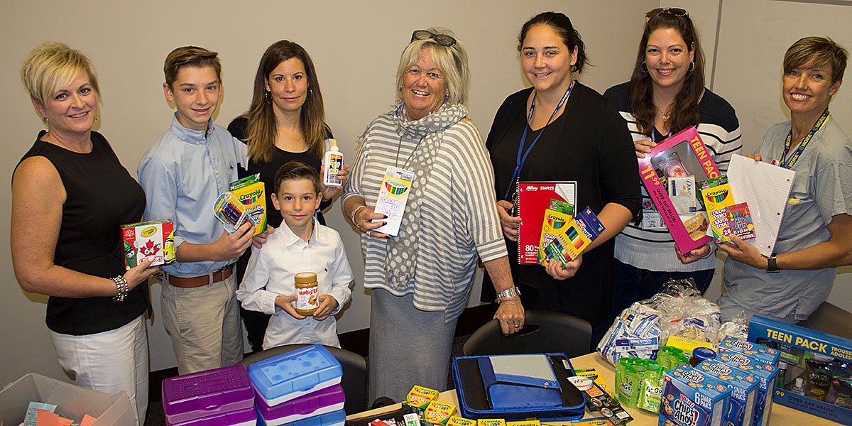 Women's and Babies' Unit donates school supplies
