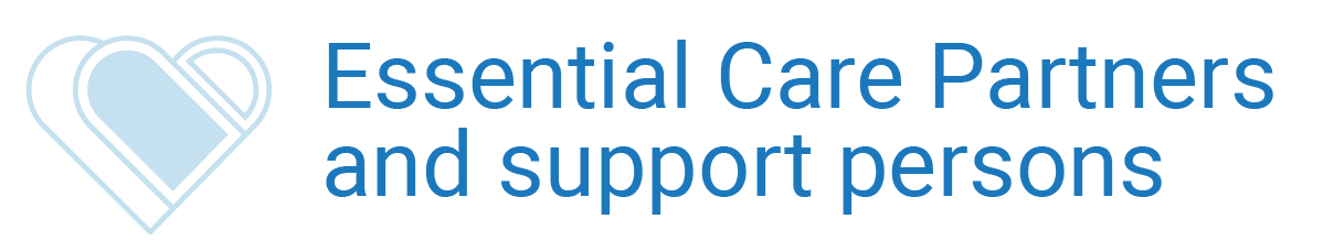 Essential Care Partners  and support persons