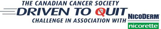 The Canadian Cancer Society Driven to Quit Challenge in Association with NicoDerm