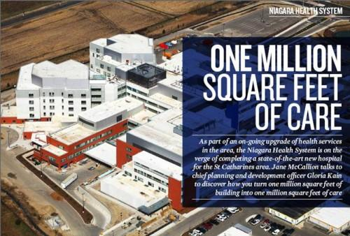 Article featured in Achieving Business Excellence; profiling the Niagara Health System's new health complex project
