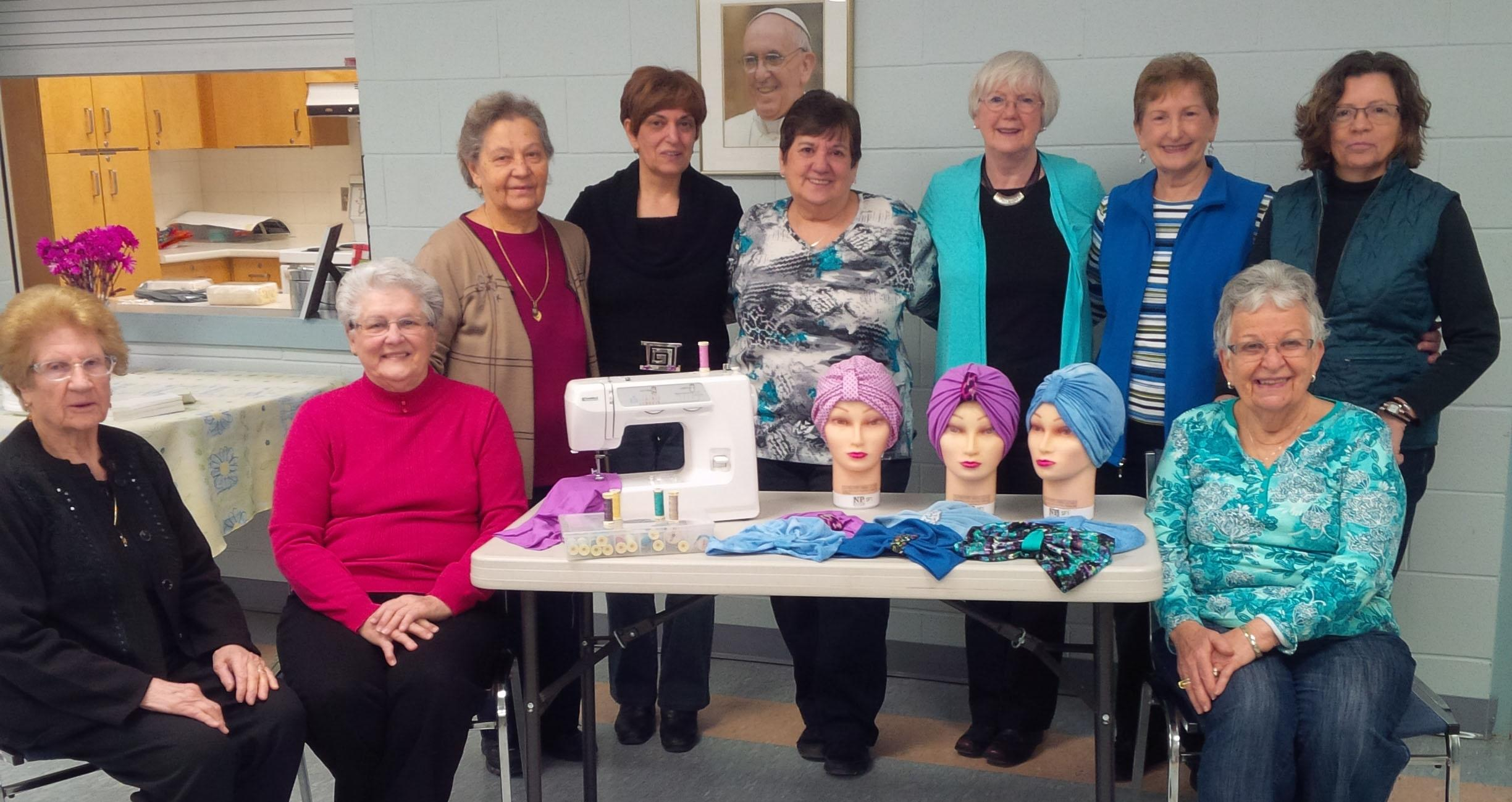 Sewing for cancer patients