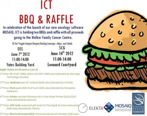 ICT BBQ & Raffle june 7th and june 14th